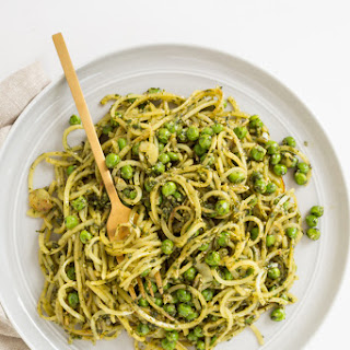 Peas and Pesto Potato Noodles