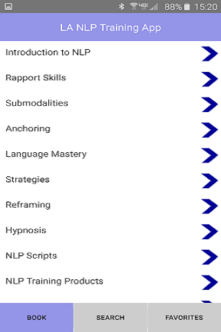 NLP Practitioner Training App screenshot 2