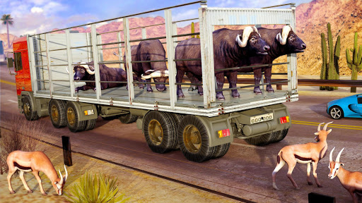 Rescue Animal Transporter Truck Driving Simulator apktram screenshots 2