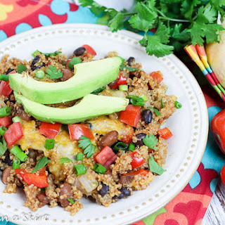 Crock Pot Vegetarian Mexican Quinoa Bake