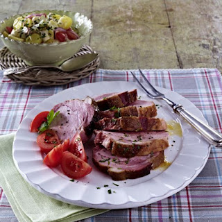 Roast Ham with Potato Salad