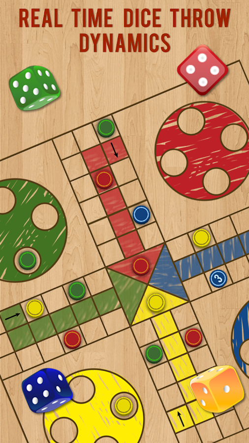 Ludo Parchis Classic Woodboard- screenshot