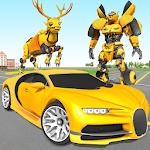 Deer Robot Car Game – Robot Transforming Games icon