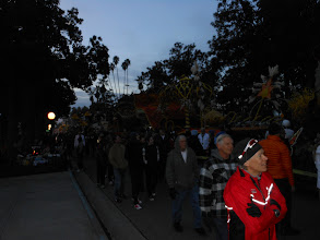 Photo: Pasadena Rose Parade 2013 Line Up with Watcher looking on the floats