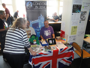Photo: London Worldcon 2014 bid-desk