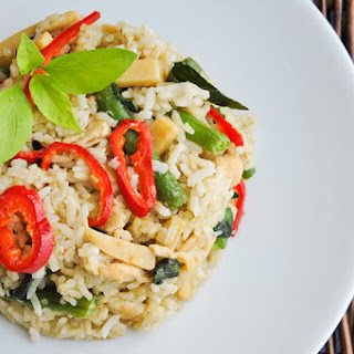 Green Curry Fried Rice | Khao Pad Gang Keow Wan | ข้าวผัดแกงเขียวหวานไก่