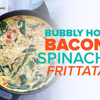 Bacon Spinach Frittata.