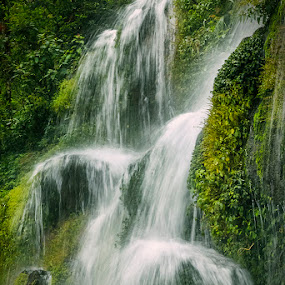 Baktahng Falls by Mrigankamouli Bhattacharjee - Landscapes Waterscapes ( bakthang falls sikkim india canon )