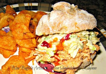 Bleu Buffalo Artisan Chicken Sandwiches~robynne Recipe