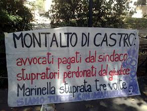 Photo: al fianco di Marinella di Montalto di Castro, contro la vergognosa sentenza pro-stupratori
