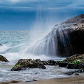 1000 Steps Sea Spray by Clifford Swall - Landscapes Beaches ( laguna beach, sony a7riii, june, overcast, ocean, pacific ocean, laguna nigel, water, landscape, sea, summer )