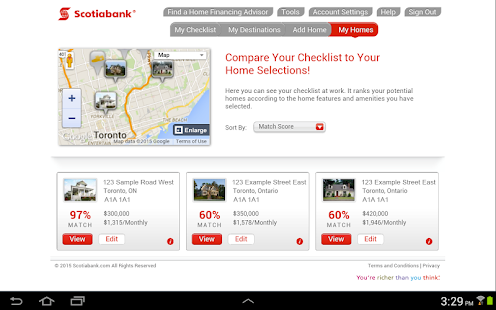 Scotiabank Dream Home Finder- screenshot thumbnail