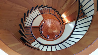 """Photo: looking down from the stair well in the """"silo"""""""