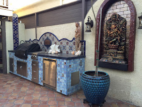 Photo: Malibu Tile Works - BBQ - Outdoor Kitchen - Private Residence - Long Beach, CA