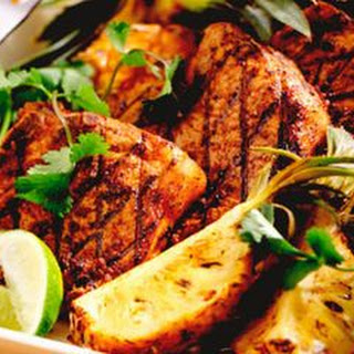 Jerk Pork Chops with Grilled Pineapple