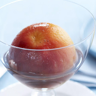Peaches with Vanilla Syrup