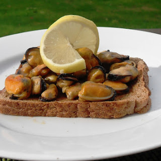 Garlic Mussels on Toast.