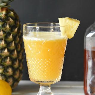 Tailgate Sipper/A pineapple bourbon Cocktail.