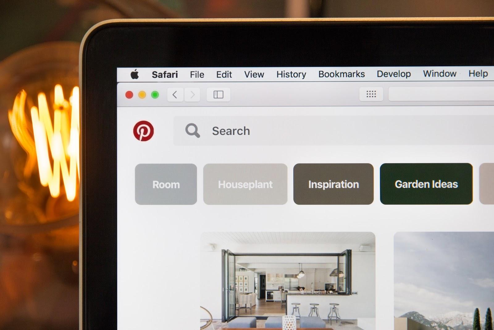 Pinterest search engine