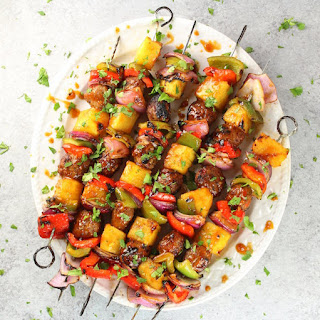Teriyaki Chicken Meatball Kabobs.