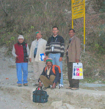 Photo: Indian people who were at Sarahan Pheasantry when I visited the pheasantry in February 2006 - Mr. K. Singh, DWF, Dr. Sushil Sood, Mr. Alam Singh, and an other worker at the pheasantry