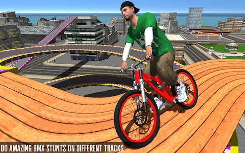 BMX Racer Stunts - Bike Race Free Screenshot