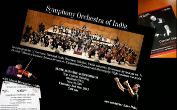 Photo: Have you known SOI, the Symphony Orchestra of India (www.soimumbai.com)? Shamefully, I had not known them until the 3rd October 2013. SOI was born in 2006 at the National Center for the Performing Arts (www.ncpamumbai.com) in Mumbai as India's very first professional Symphony Orchestra. Since then, they have remarkable achievements in India as well as overseas, and finally have come to Pune for the first time. The fee for the concert was not set as it depended on individual donations, therefore many people from young to old attended. The evening started with India's national anthem, and concluded with Johann Strauss I's Radetzky March under never ending curtain call. Although the venue, which was an auditorium in a school, was not made for the Orchestra performance thus acoustic quality was poor, attending such concert in Pune itself was like a dream for me. I am now determined that I will go to Jamshed Bhabha Hall (https://plus.google.com/104644479886969176612/about), SOI's home ground next time to listen to their performance. 6th October updated (日本語はこちら☆) - http://jp.asksiddhi.in/daily_detail.php?id=323