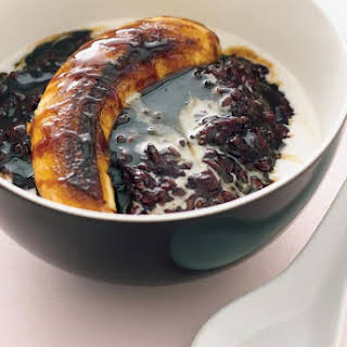 Thai Black Sticky Rice Pudding.