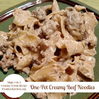 One-Pot Creamy Beef Noodles.