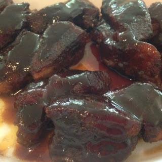 Slow-Baked OVEN BBQ Boneless COUNTRY BACK Pork RIBS.