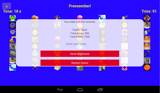 Pressember! game for Android screenshot