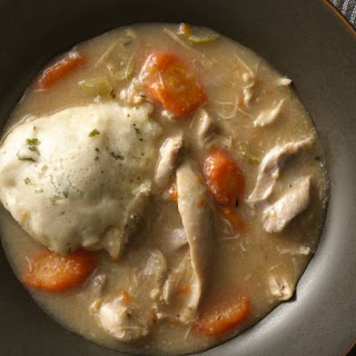 Slow-Cooker Creamy Chicken and Herbed Dumplings