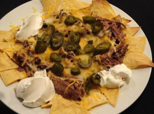 "Pot Roast Nachos ""Last night my son wanted me to try something..."