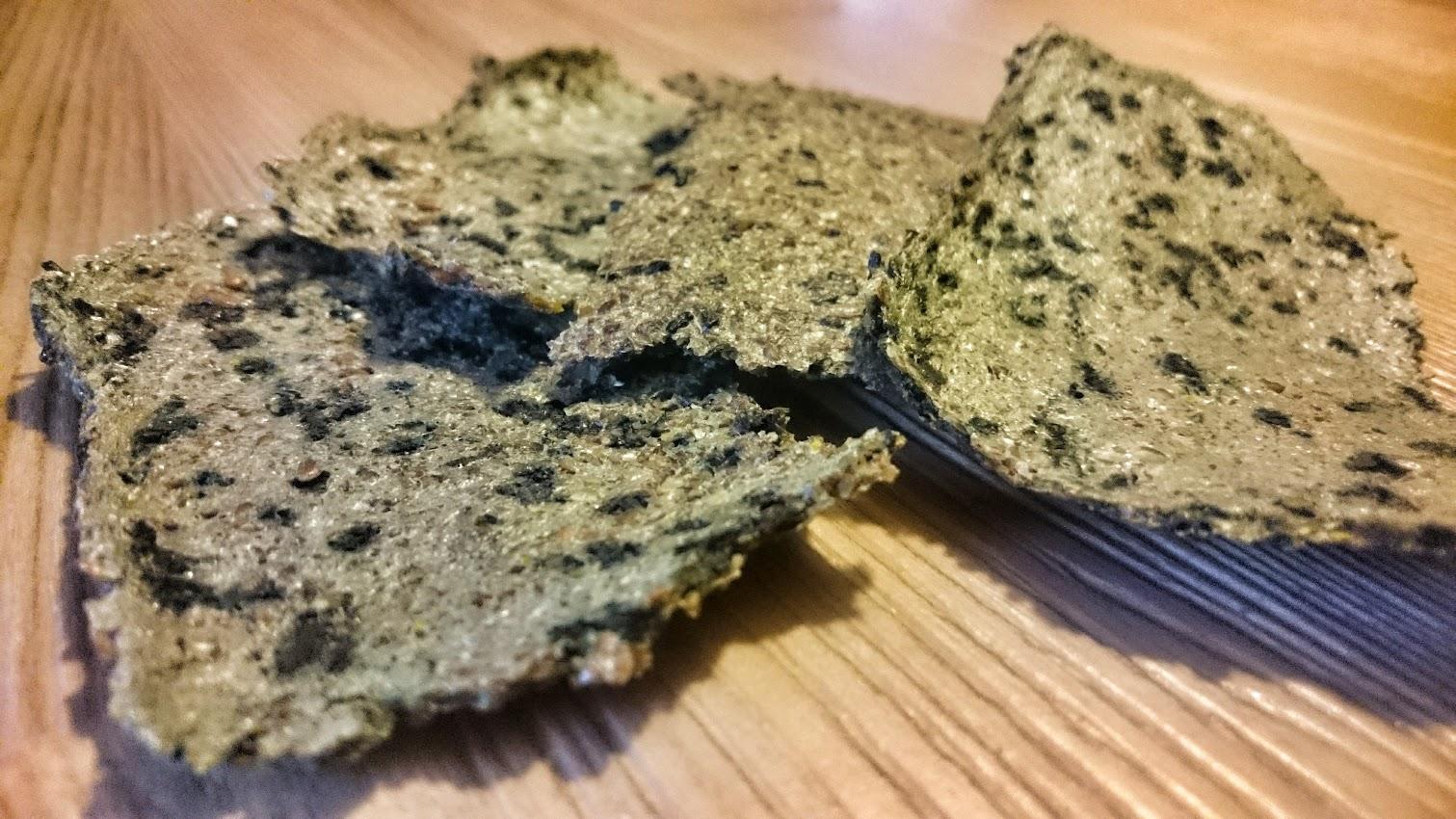 Crackers spiruline algo