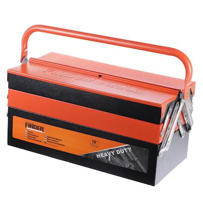 Окрашенный железный ящик Finder 42x20x21 см