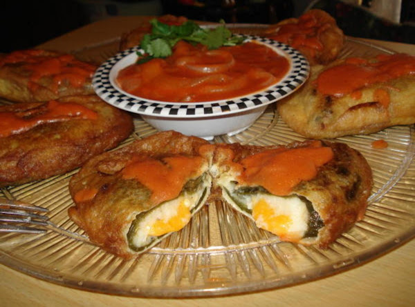Chiles Rellenos And Tomato Cumin Sauce (stuffed Poblano Peppers) Recipe