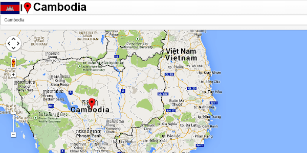 Cambodia Kompong Thom Map screenshot 1
