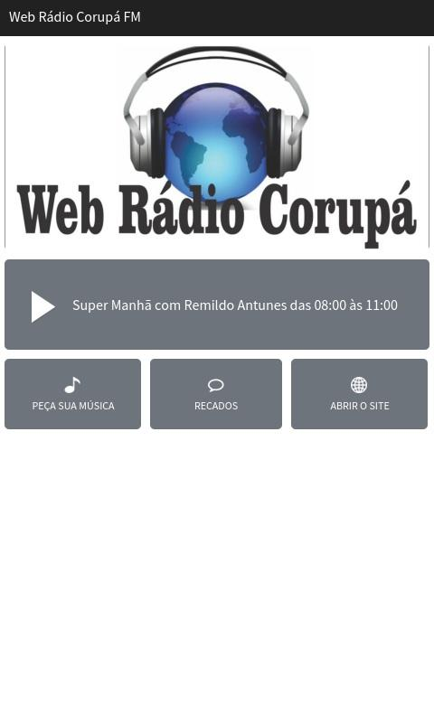 Web Rádio Corupá FM- screenshot