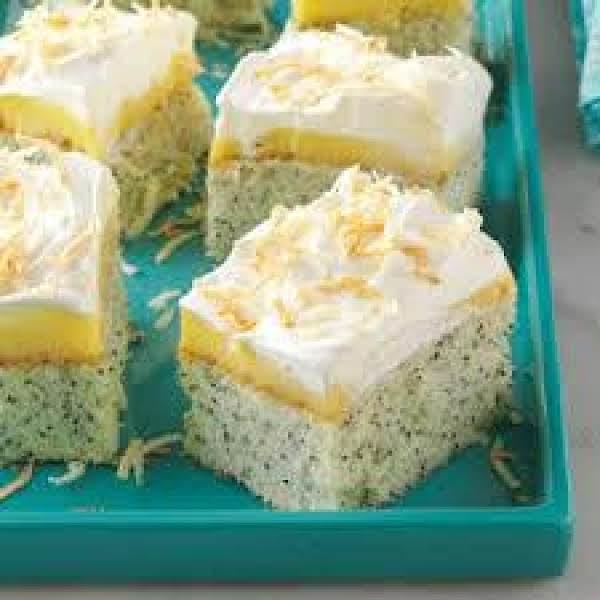 Quick & Easy Coconut Poppy Seed Cake