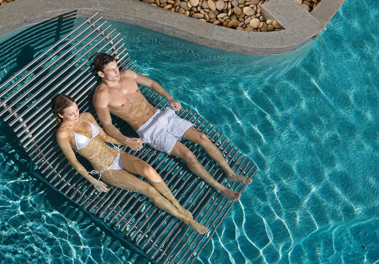 A Spa Waterbed for couples at Secrets Resorts & Spas.