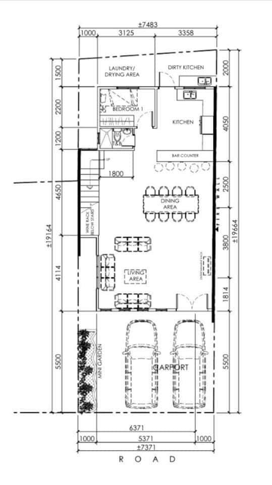 8 Bedroom Townhouse in Tandang Sora, Mindanao Avenue, Quezon City first floor plan