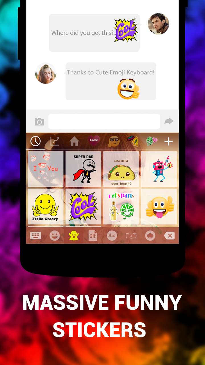 Emoji Keyboard Cute Emoticons - Theme, GIF, Emoji Screenshot 3