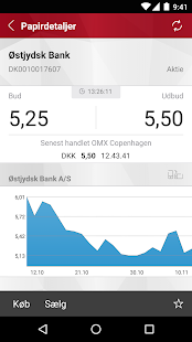 Østjydsk Banks MobilBank- screenshot thumbnail