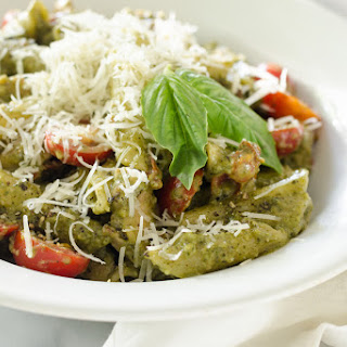 One-Pot Chicken Pesto Pasta.