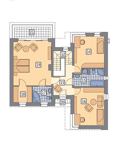 Widoczny - energooszczędny - EC264 - Rzut piętra