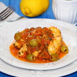 Cod in Lemon Tomato Sauce