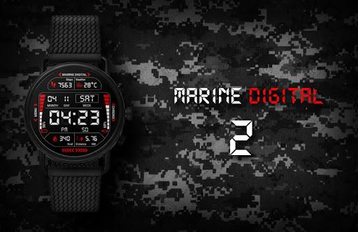 Marine Digital 2 Watch Face & Clock Live Wallpaper 1.07 screenshots 1