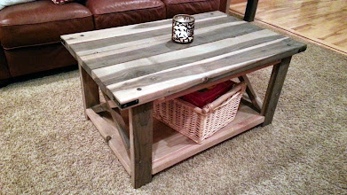 """Photo: Greyburn Coffee Table 36""""L x 28""""W x 22""""H Color: Greyburn Finish: Wax Hardware: Corner Brackets, Security Lags Investment: 475"""