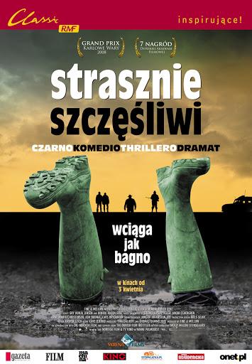 Polski plakat filmu 'Strasznie Szczęśliwi'