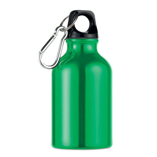 Drinking Bottle with Carabiner (300ml) - Black